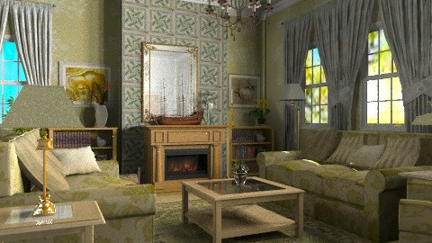 Traditional Green - Classic - Living room  - by Bibiche