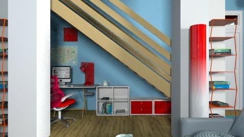 Under stair office - Modern - Office  - by mrschicken