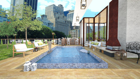 Rooftop Garden - Modern - Garden - by Laurika