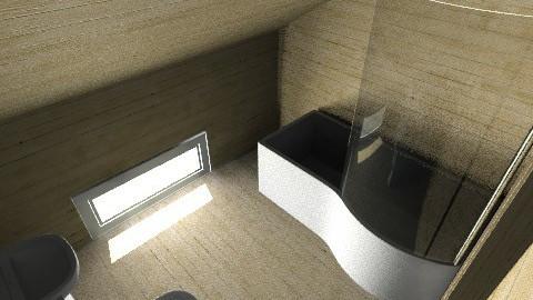 cabin_bath - Country - Bathroom  - by moonkai