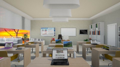 Naturalcolor_classroom - Modern - Office  - by Gre_Taa