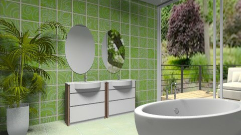 Green - Minimal - Bathroom  - by milyca8
