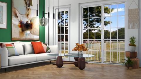 green living - Living room  - by She is me