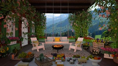 Austrian Alpine Farm - Garden  - by lydiaenderlebell