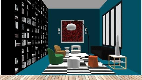 Little Blue Lounge - Living room  - by DMLights-user-997247