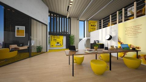 Yellow working space - Office  - by ginamelia22