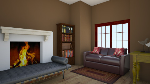 Rustic American Living - Rustic - Living room  - by indiannaerickson