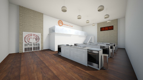 Masterchef Kitchen - Modern - Kitchen  - by Keliann