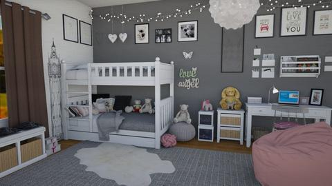 Twins room - Modern - Bedroom - by Nina Colin