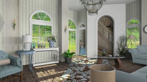 Blue salon - Classic - Living room  - by milyca8