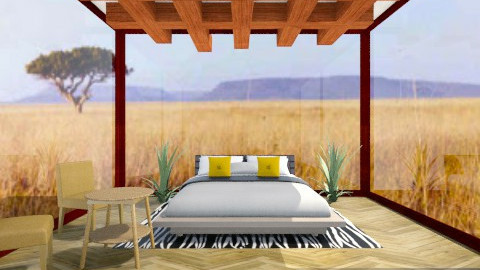 african safari room - Rustic - Bedroom  - by fluffybunny1426