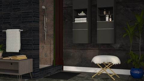 Dark Bath - Modern - Bathroom  - by millerfam
