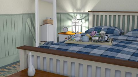 breakfast in bed - Classic - Bedroom  - by donella