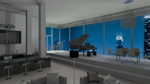 A Blue Skyline View - Modern - by Musicman