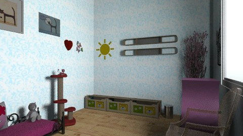 gatos room - Glamour - Kids room  - by ShinigamiRvkia
