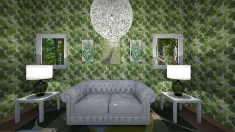 Leafy Living Room - Living room  - by Tasteful Turtle