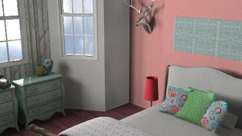 Walterton Bedroom FINAL sky - Eclectic - Bedroom  - by pia