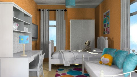 Sharminet Kids/Guest Room2 - Eclectic - Bedroom  - by channing4