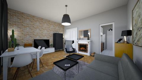 Polish Flat - Modern - Living room  - by agnieszka_giez