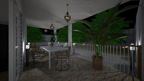 Terrace at night5 - Garden  - by lovasemoke