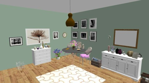 Floral London - Modern - Dining room - by irene30