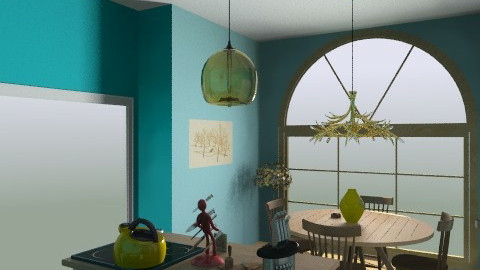 random room4 - Retro - Kitchen  - by emokittyofdoom