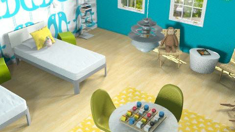 kid's room - Retro - Kids room  - by marcychapman