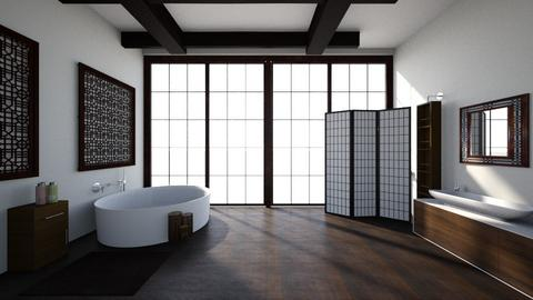 Japanese bathroom - Minimal - Bathroom  - by kristianvalchev
