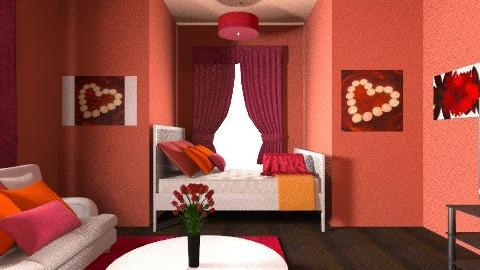 Red - Feminine - Bedroom - by 89dudes