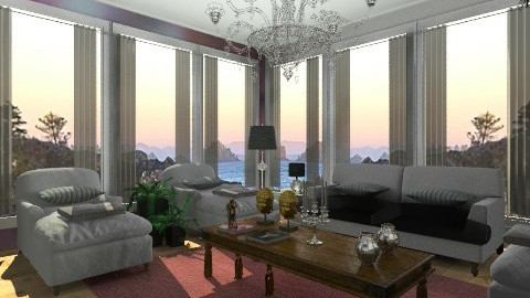 Diane House - Vintage - Living room  - by Oliveira Fabio