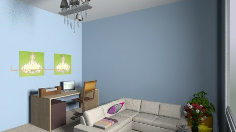 projekt 2 - Retro - Living room  - by azurra1