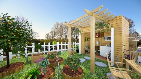 Allotment House - Garden  - by Aurora Boreas