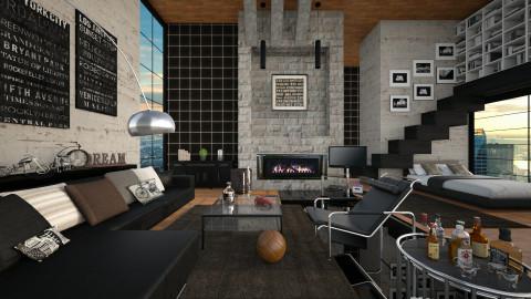 men room - Eclectic - Bedroom  - by IvanCheripko