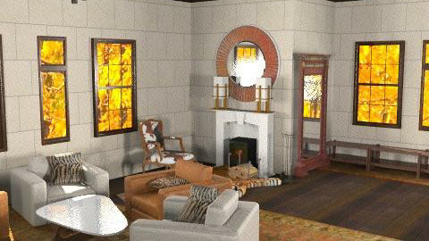 Autumny Lee - Rustic - Living room  - by SariJo