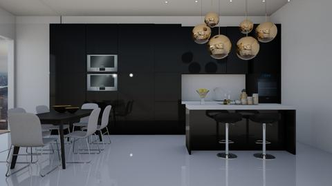Glossy Apartment - Modern - Kitchen  - by GinnyGranger394