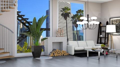 Apartment Living - Living room  - by kiwimelon711