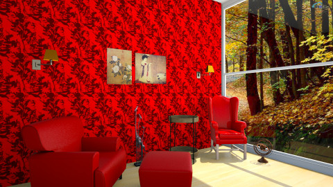 red room - Living room - by Peri Oztr