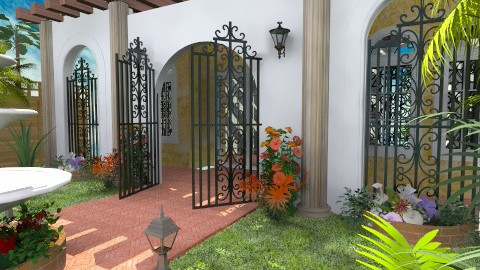 Hacienda - Rustic - Garden  - by Bibiche