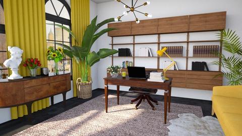 Yellow workspace - Office  - by Louise Stafilidou Hedlund