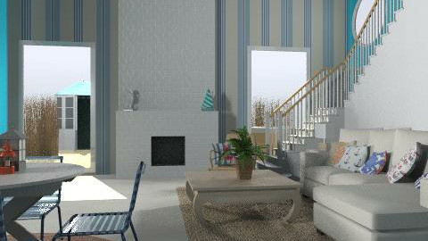 nautical room - Eclectic - Living room  - by Rechoppy92