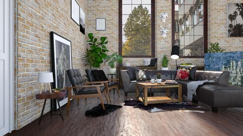 The Beatles - Rustic - Living room  - by aurora dobric