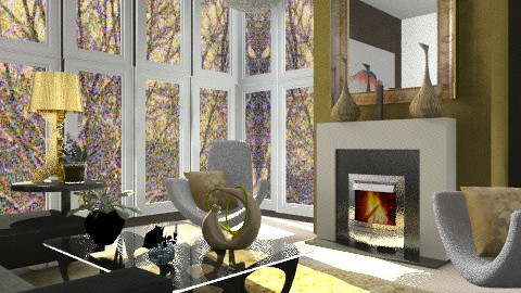 Gold Fingers - Eclectic - Living room  - by Patrick Mallaley