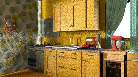 Rustic kitchen - Rustic - Kitchen  - by MollytheAmazing