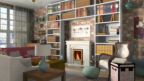 City loft living room - Eclectic - Living room  - by alleypea