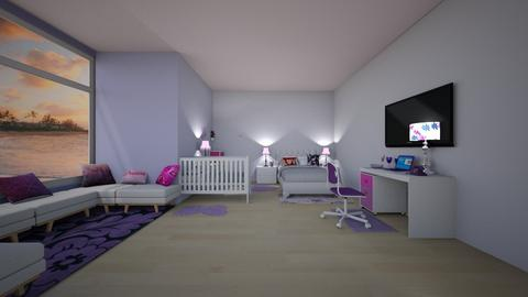Pink and Purple - Glamour - Bedroom  - by VanillaBluePearlCloud2008