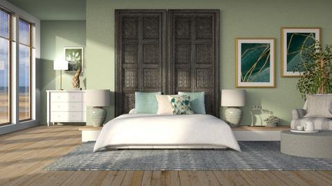 Sage Green - Classic - Bedroom  - by Claudia Correia