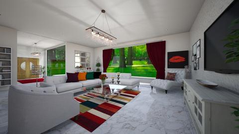 rojo para la puerta - Living room  - by virgen