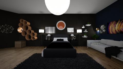 Dark bedroom - Bedroom  - by aguilardaruby