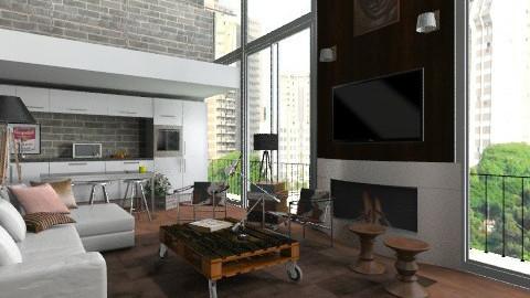 Mezzane Loft - Modern - Living room  - by sahfs