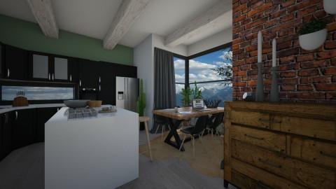 kitchen living room 1 - by elvievandenbroek